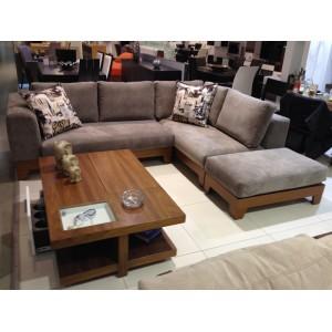 Καναπες - Γωνιακός καναπές Wood Καναπέδες